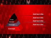 Red Letters on Black Background PowerPoint Template#4