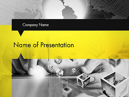 Strict and Creative Business Collage PowerPoint Template, 12737, Business — PoweredTemplate.com