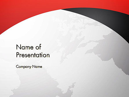 Strict Business Theme with World Map PowerPoint Template