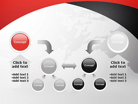 Strict Business Theme with World Map PowerPoint Template Slide 19