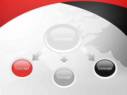 Strict Business Theme with World Map PowerPoint Template Slide 4