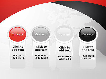 Strict Business Theme with World Map PowerPoint Template Slide 5