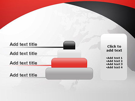Strict Business Theme with World Map PowerPoint Template Slide 8