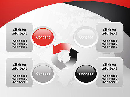 Strict Business Theme with World Map PowerPoint Template Slide 9