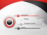 Strict Business Theme with World Map PowerPoint Template#3