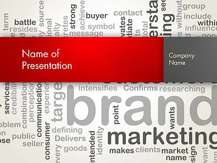 Brand Marketing Word Cloud PowerPoint Template, 12740, Careers/Industry — PoweredTemplate.com