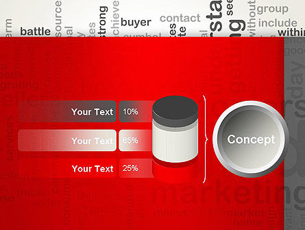 Brand Marketing Word Cloud PowerPoint Template Slide 11