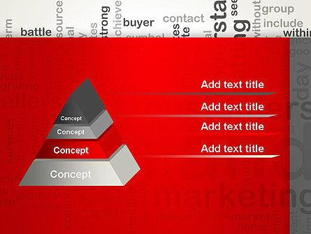 Brand Marketing Word Cloud PowerPoint Template Slide 12