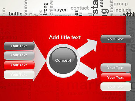 Brand Marketing Word Cloud PowerPoint Template Slide 14