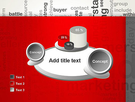 Brand Marketing Word Cloud PowerPoint Template Slide 16