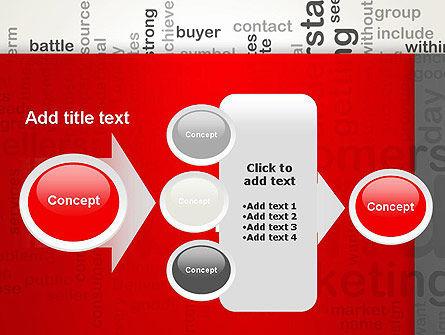 Brand Marketing Word Cloud PowerPoint Template Slide 17