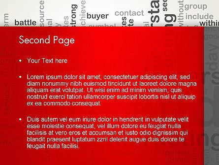 Brand Marketing Word Cloud PowerPoint Template Slide 2