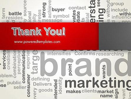 Brand Marketing Word Cloud PowerPoint Template Slide 20