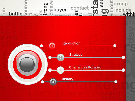 Brand Marketing Word Cloud PowerPoint Template Slide 3