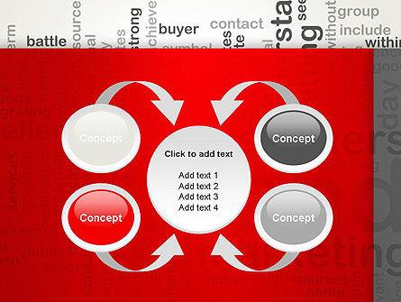 Brand Marketing Word Cloud PowerPoint Template Slide 6