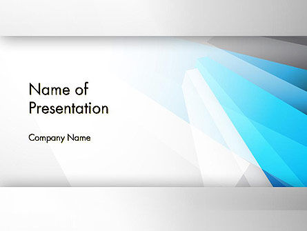 Light Abstract Geometric PowerPoint Template
