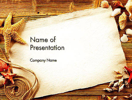 Ocean Shells Theme PowerPoint Template, 12742, Holiday/Special Occasion — PoweredTemplate.com