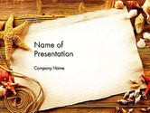 Holiday/Special Occasion: Ocean Shells Theme PowerPoint Template #12742
