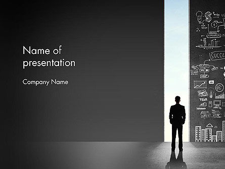 Business Concepts: Opportunity Door PowerPoint Template #12743