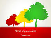 Nature & Environment: Three Trees PowerPoint Template #12745