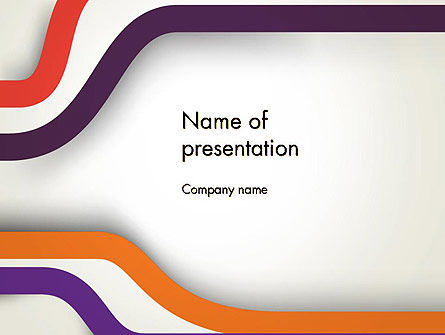 Abstract Diverge Lines PowerPoint Template
