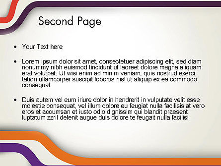 Abstract Diverge Lines PowerPoint Template Slide 2