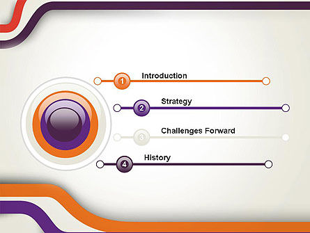 Abstract Diverge Lines PowerPoint Template Slide 3