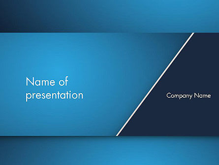 Strong Blue Geometric PowerPoint Template