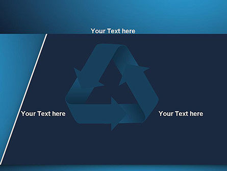 Strong Blue Geometric PowerPoint Template Slide 10