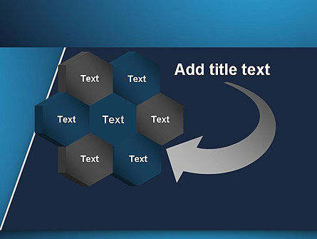 Strong Blue Geometric PowerPoint Template Slide 11