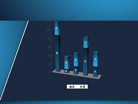 Strong Blue Geometric PowerPoint Template Slide 17