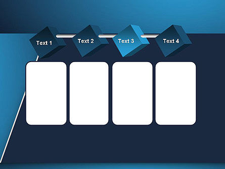 Strong Blue Geometric PowerPoint Template Slide 18