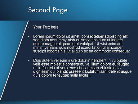 Strong Blue Geometric PowerPoint Template Slide 2