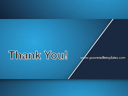 Strong Blue Geometric PowerPoint Template Slide 20