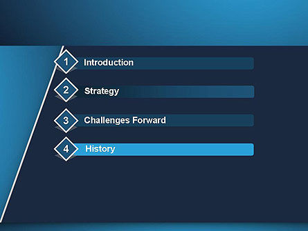 Strong Blue Geometric PowerPoint Template Slide 3