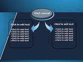 Strong Blue Geometric PowerPoint Template#4