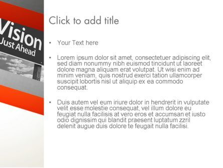 Vision Just Ahead Sign PowerPoint Template, Slide 3, 12752, Business Concepts — PoweredTemplate.com
