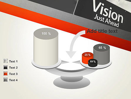 Vision Just Ahead Sign PowerPoint Template Slide 10