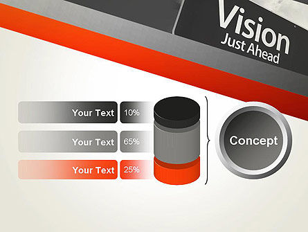 Vision Just Ahead Sign PowerPoint Template Slide 11