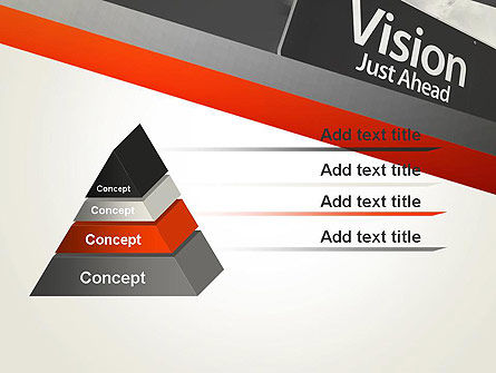 Vision Just Ahead Sign PowerPoint Template Slide 12