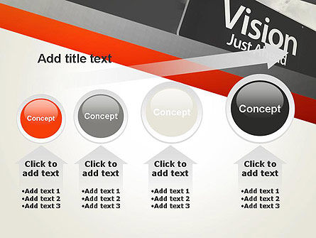Vision Just Ahead Sign PowerPoint Template Slide 13