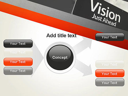 Vision Just Ahead Sign PowerPoint Template Slide 14