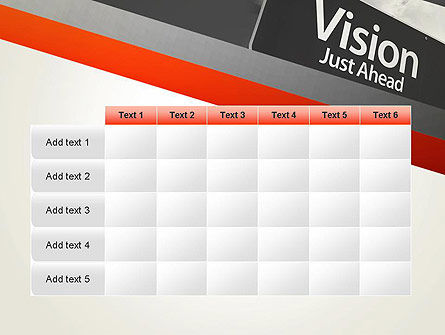 Vision Just Ahead Sign PowerPoint Template Slide 15