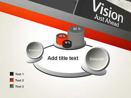 Vision Just Ahead Sign PowerPoint Template Slide 16