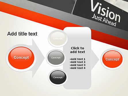 Vision Just Ahead Sign PowerPoint Template Slide 17