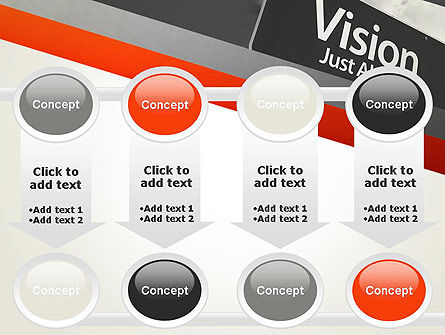 Vision Just Ahead Sign PowerPoint Template Slide 18