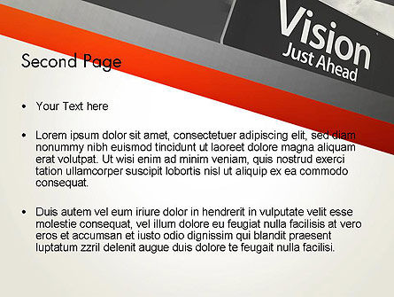 Vision Just Ahead Sign PowerPoint Template, Slide 2, 12752, Business Concepts — PoweredTemplate.com
