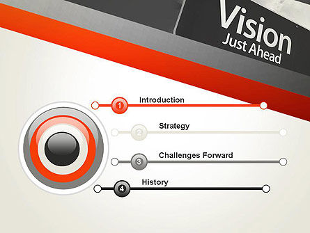 Vision Just Ahead Sign PowerPoint Template Slide 3