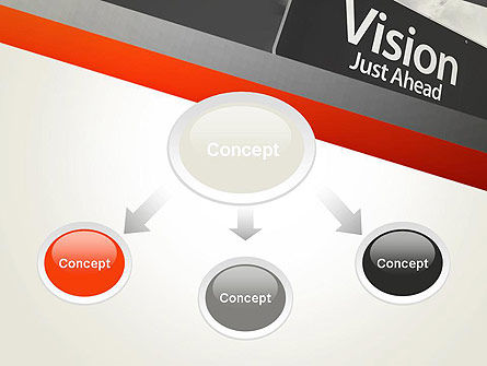 Vision Just Ahead Sign PowerPoint Template, Slide 4, 12752, Business Concepts — PoweredTemplate.com
