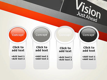 Vision Just Ahead Sign PowerPoint Template Slide 5